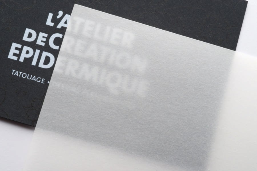 Impression Carte De Visite Papier Calque
