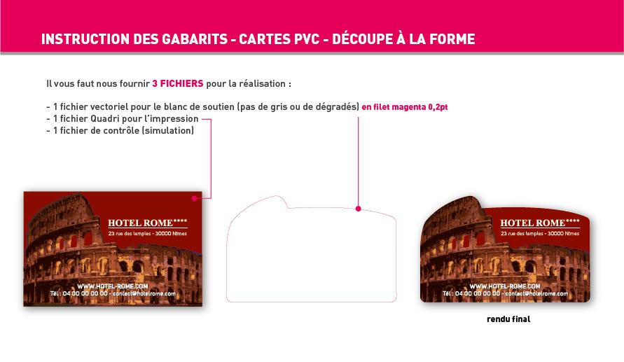 Carte Simple Et De Visite Plastique PVC Translucide