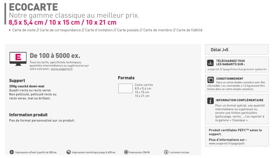 Carte De Visite Forme Libre FR Standard Simple Cyclus Print