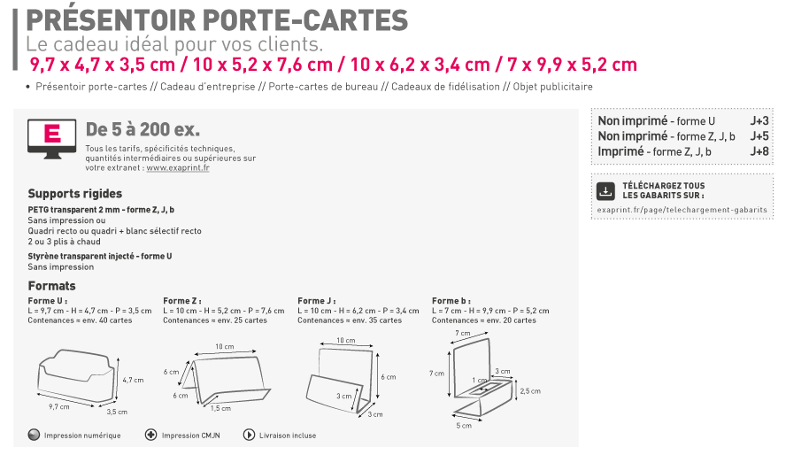 Poche FR Boite Cartes De Visite Fr Little Card