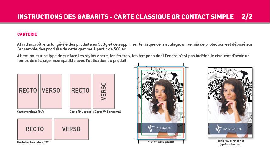 Impression Carte Simple Et De Visite QR Code
