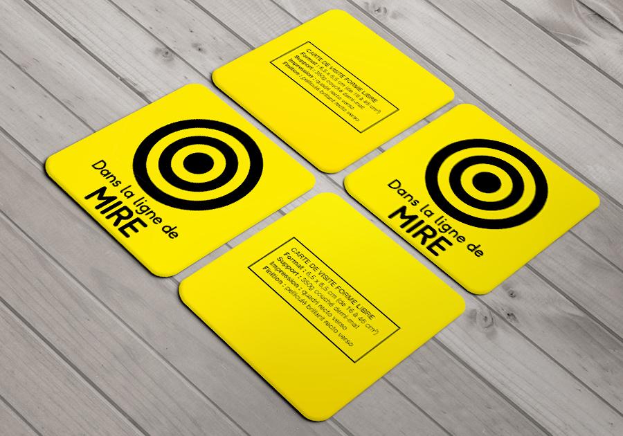 Carte De Visite Decoupe A La Forme Libre Carre Coins Ronds