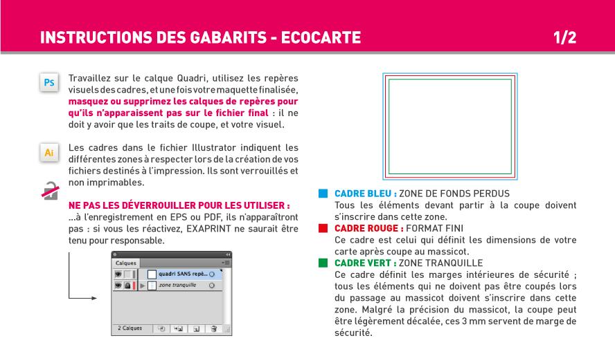 EcoCarte 2 FR Carte De Visite Forme Libre