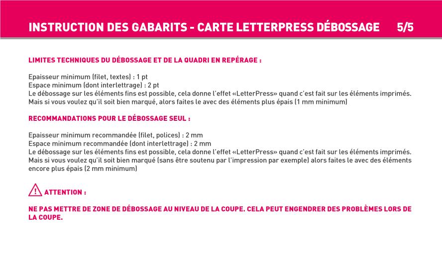 Carte Simple Et De Visite Finition Letter Press