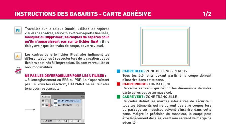 Impression Carte Simple Et Carte De Visite Adhesive
