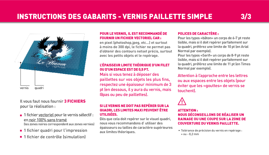 Carte Simple Et Carte De Visite Finition Vernis Paillette