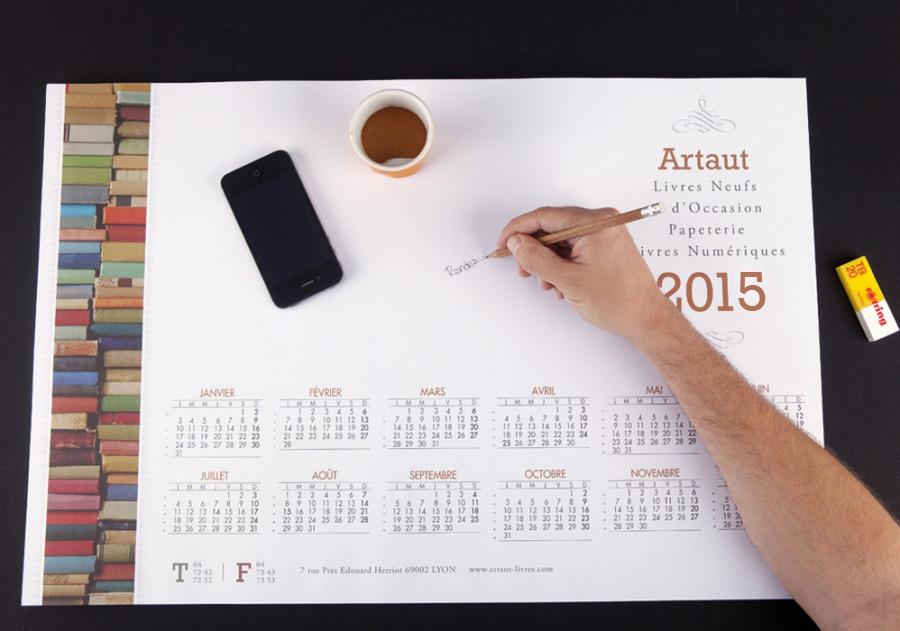 Impression calendrier sous main papier exaprint - Sous main bureau personnalise photos ...