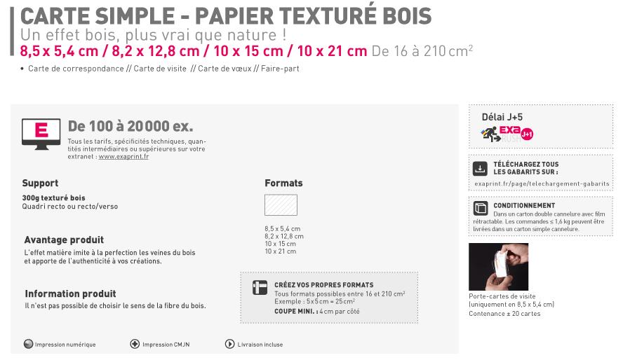 Carte Simple Et De Visite Papier Textur Bois
