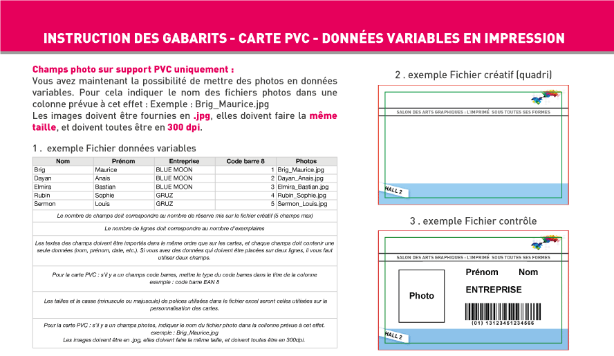 Carte Simple Et De Visite Plastique PVC Blanc