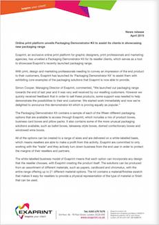 Press release April15