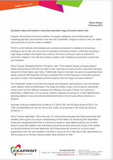 Press release February15
