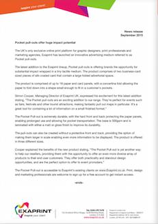 Press release September15