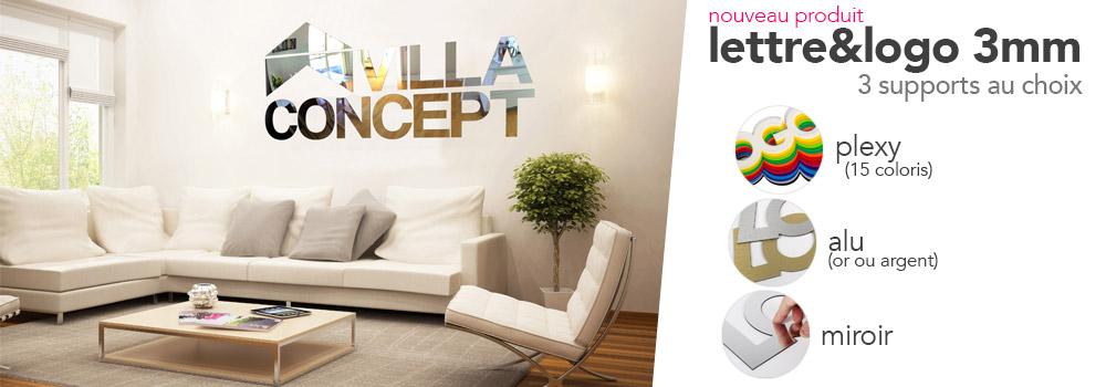 Lettre & logo 3mm