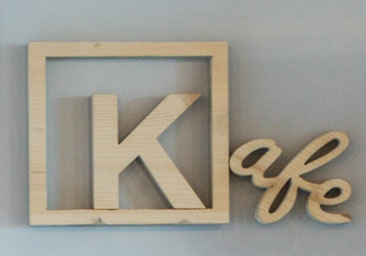 Lettre et logo 3D bois