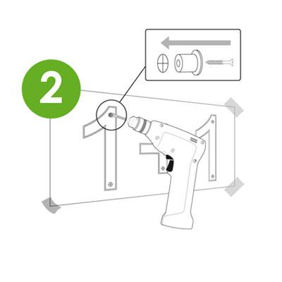 étape 2 pose logo végétal synthétique