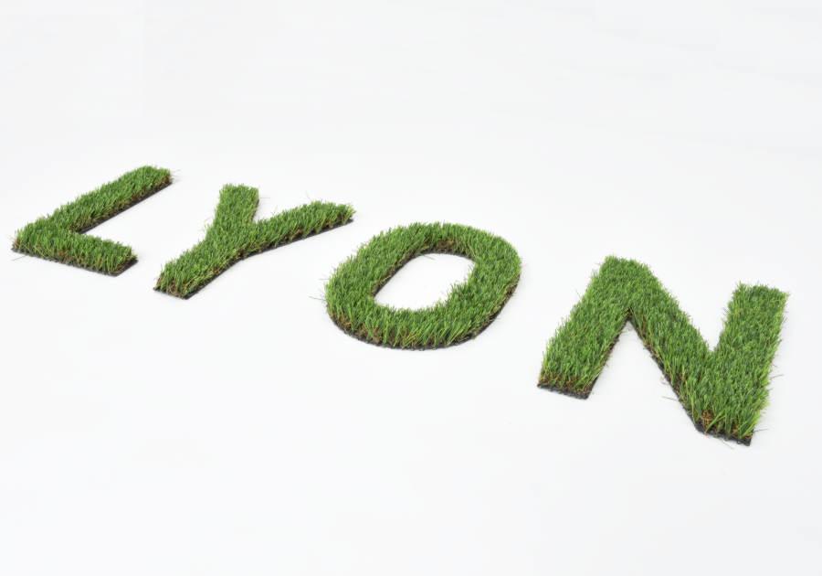 Modelo de logo vegetal sintético sin dibond. Soporte flexible.