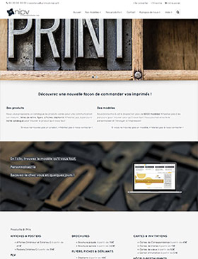 Exemple 1 d'une boutique Printcommerce