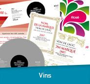 étiquette vins